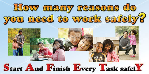 How Many Reasons To Work Safely safety banner item 1103 175