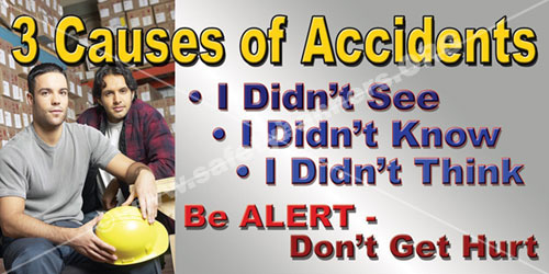 Three Causes of Accicents safety banner item 1025 175