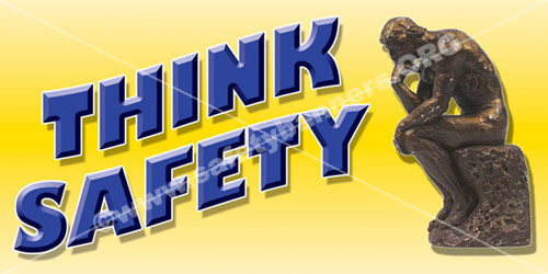 think safety, safety banner