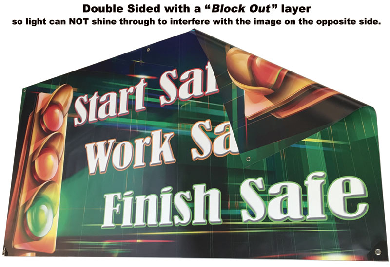 Double Sided Safety Banner picture