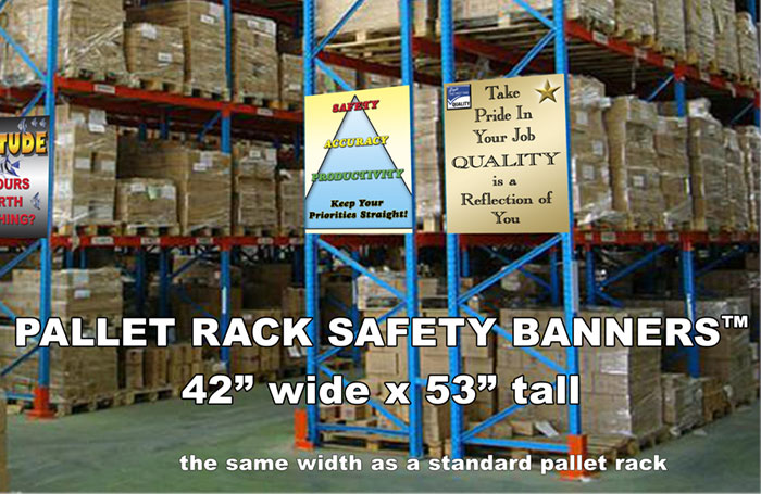 Pallet Rack Safety Banners