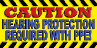 safety banners product number 1111