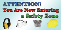 safety banners product number 1256