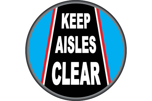 Keep Warehouse Aisles Clean safety floor sticker item 6810